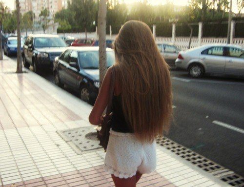 фото девушек красивых со спины с русыми волосами